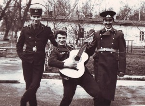 Sowjetische Soldaten während ihres Dienstes in der Garnison Zeithain (80er-Jahre).